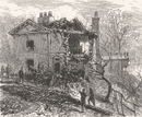 LONDON: Regent's Canal explosion: Park-Keeper house, antique print, 1874